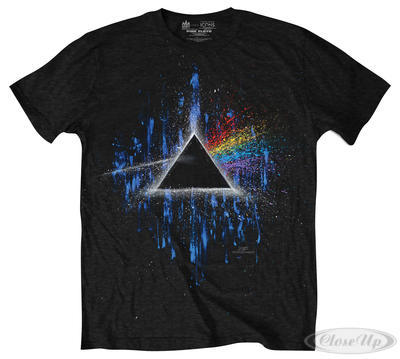 Pink Floyd T-Shirt Dark Side Of The Moon Blue Splatter