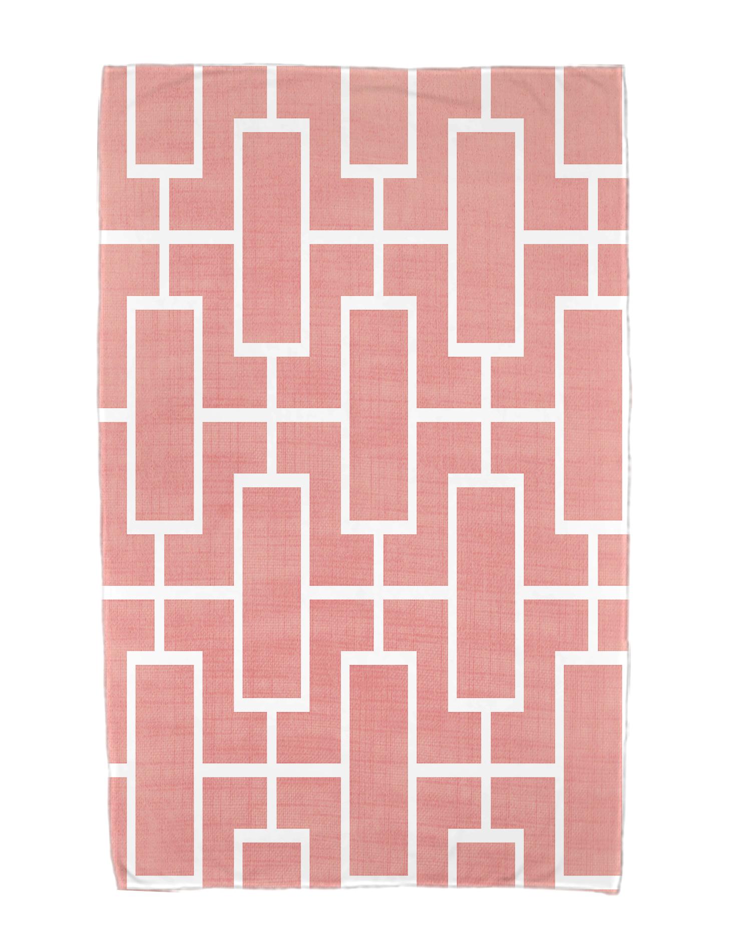 36 X 72 Inch Screen Lattice Geometric Print Beach Towel