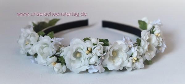Haarschmuck Haarreif Braut Hochzeit Kommunion Blumenkinder Hs0020