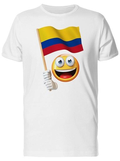 Happy Emoji with Colombian Flag Tee Men's -Image by Shutterstock