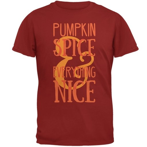 Autumn Pumpkin Spice & Everything Nice Cardinal Red Adult T-Shirt